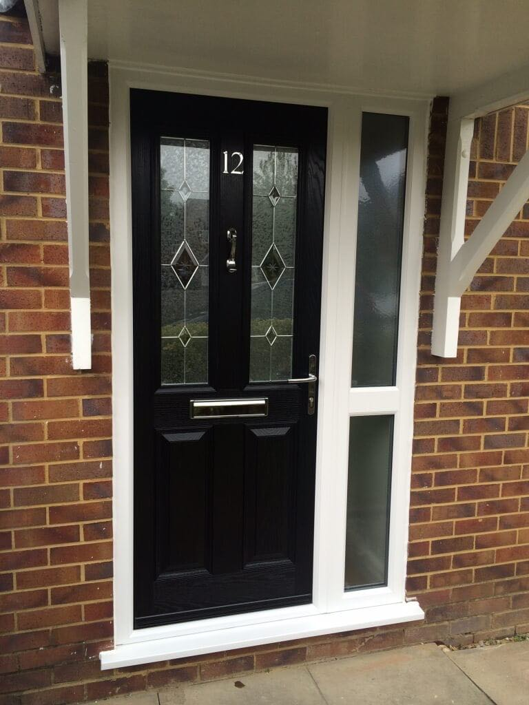 Black ultimate composite door the window company for Composite windows