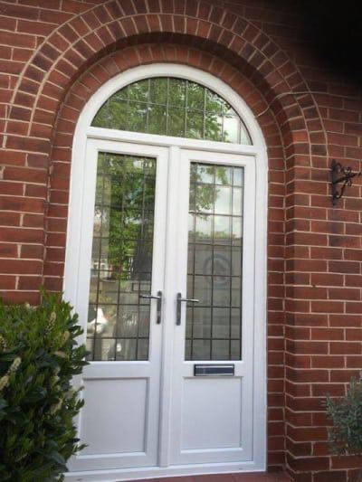 Leaded Double Front Door