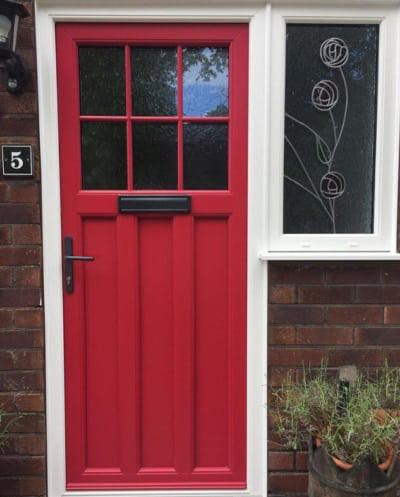 1930's Style Upvc Door with Bespoke Glazing & Farrow & Ball Colour