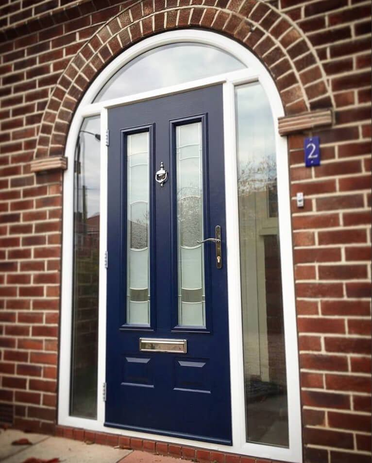 Arched Blue Solidor The Window Company
