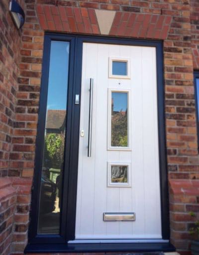Cream on Grey Solidor