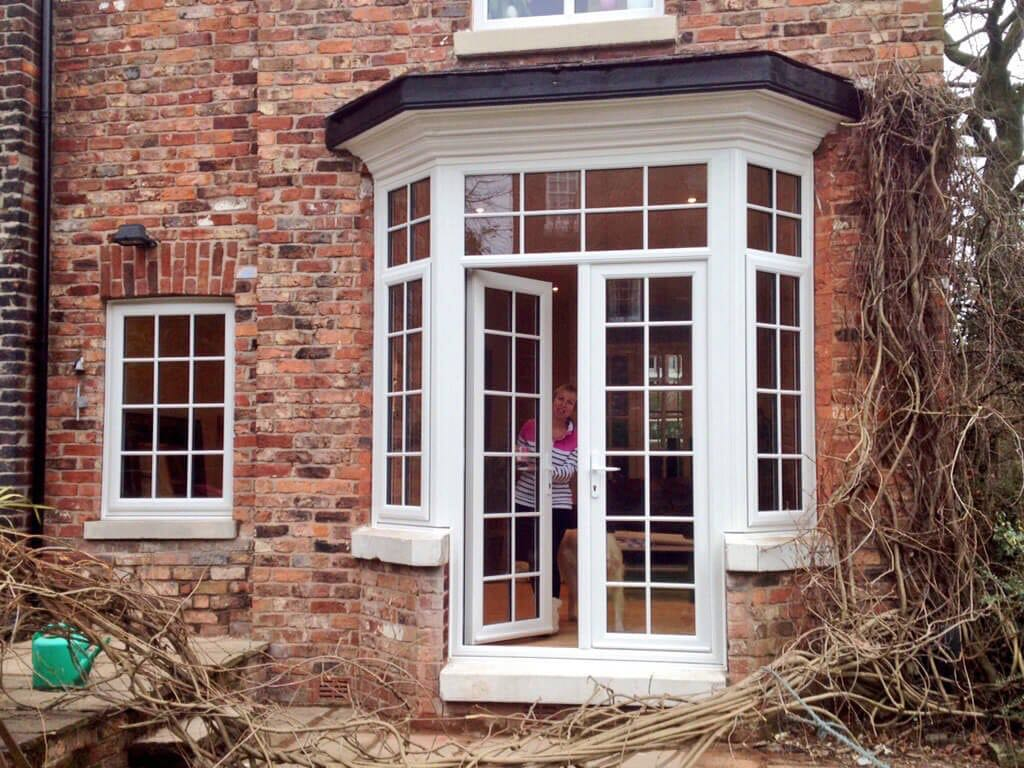 Period windows changed into french doors sale for The door and the window