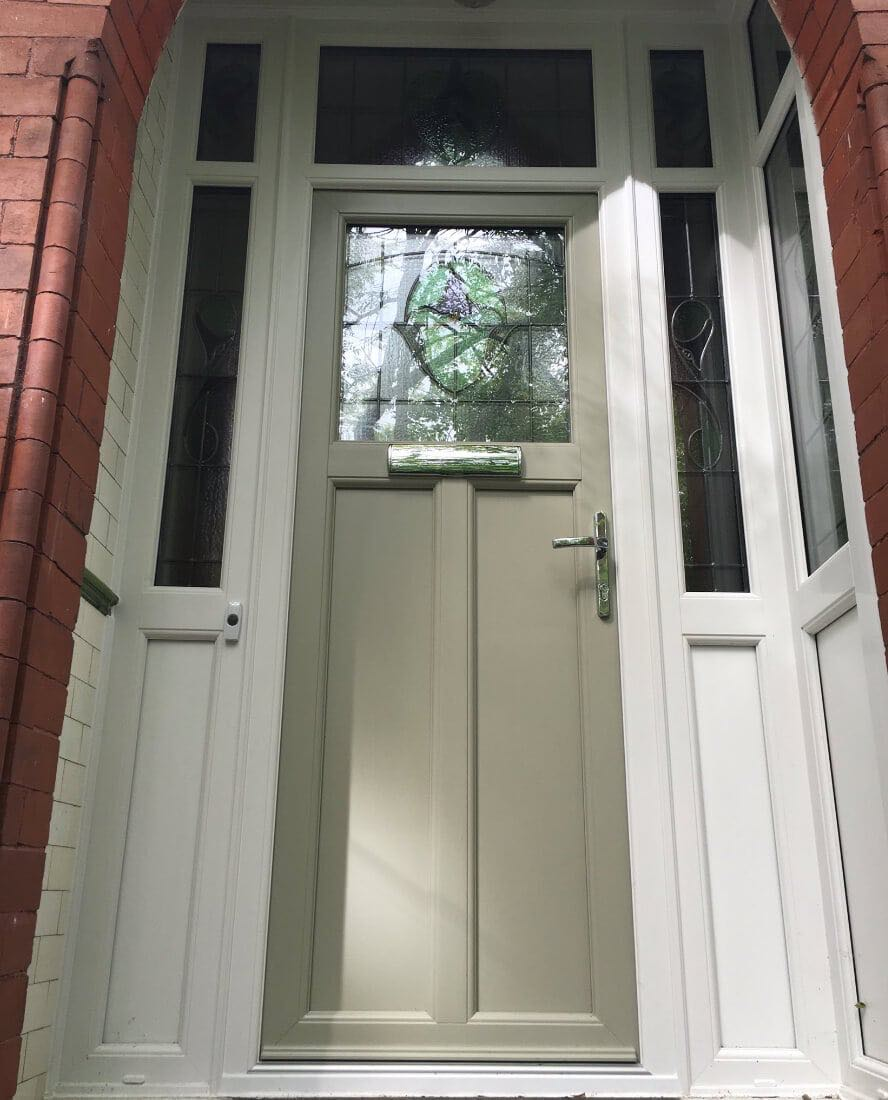 green upvc door the window company