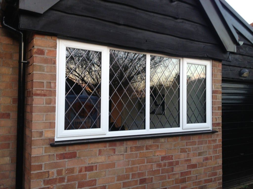 Aged diamond lead upvc window the window company for Upvc window company