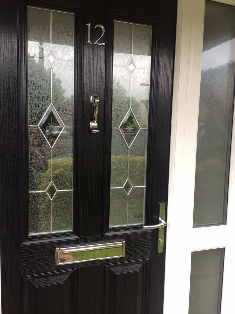 Latest installations gallery from the window company manchester - Black Ultimate With Kara Glass The Window Company