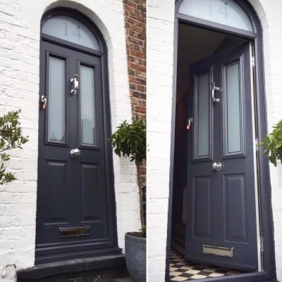 Solidor Anthracite Grey Victorian with Sandblasted Glazing