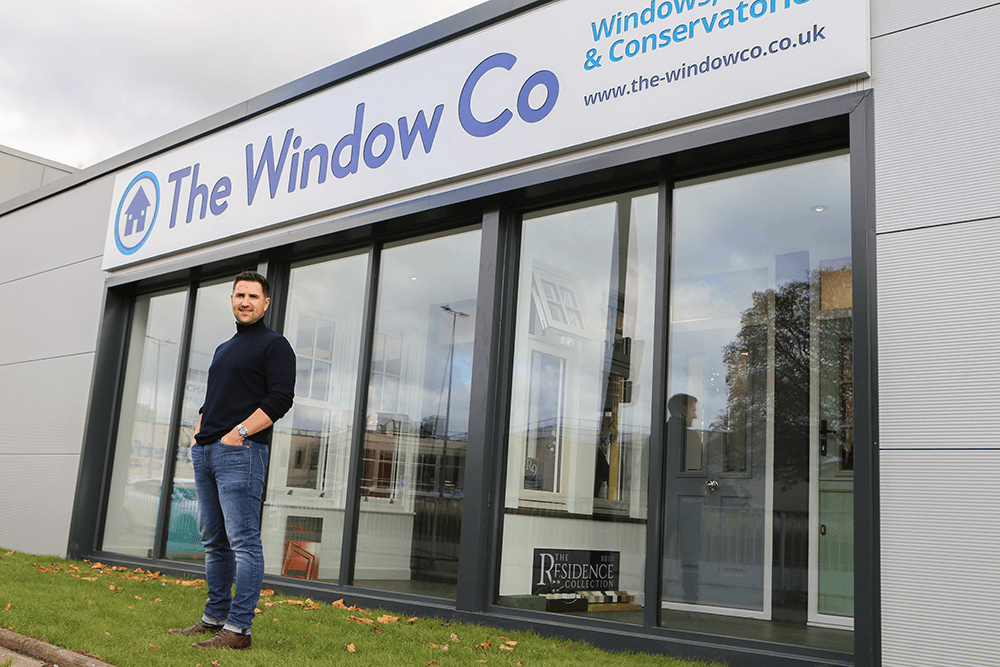 Our new showroom tradeplas trade counter the window co for New window company